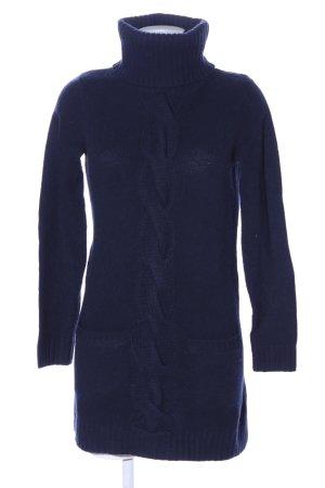 Gant Rollkragenpullover blau Zopfmuster Casual-Look