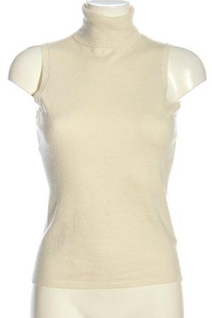 Gant Top de cuello de cisne crema look casual