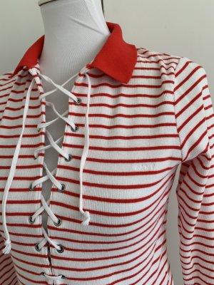GANT rot/weiß gestreiftes Langarmshirt