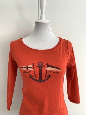 GANT rotes Shirt mit Anker und halblangem Arm