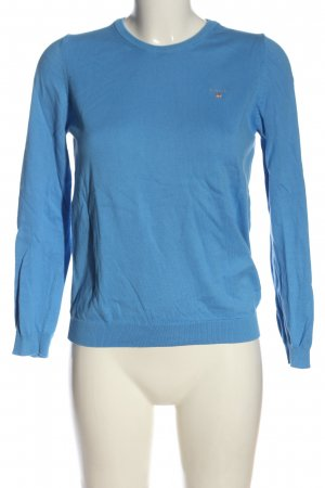 Gant Rundhalspullover blau Casual-Look