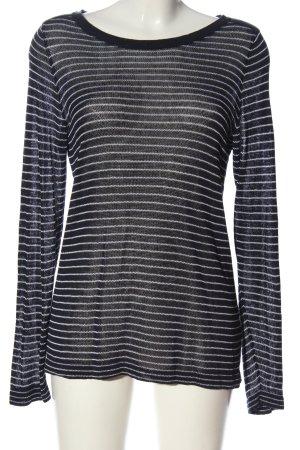 Gant Rundhalspullover schwarz-weiß Streifenmuster Casual-Look