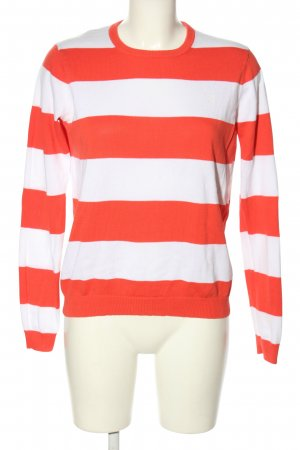 Gant Rundhalspullover rot-weiß Streifenmuster Casual-Look