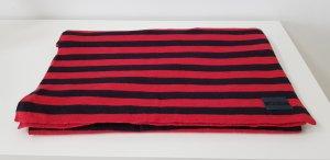 Gant Schal Baumwolle rot schwarz gestreift