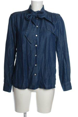Gant Bluzka z kokardą niebieski W stylu casual