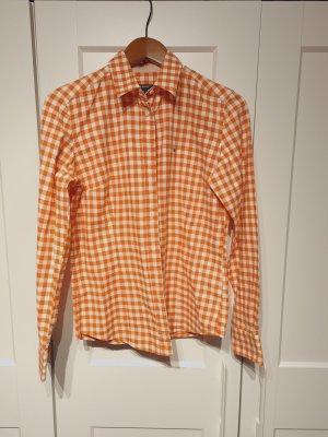 Gant Shirthemd Bluse kariert orange Gr. 38