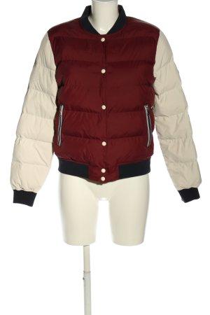 Gant Steppjacke rot-weiß Steppmuster Casual-Look