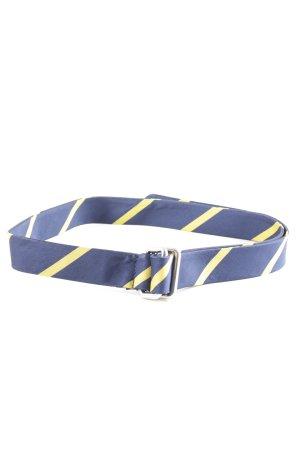 Gant Stoffgürtel blau-blassgelb Streifenmuster Casual-Look