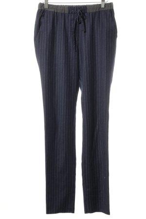 Gant Stoffhose dunkelblau-wollweiß Streifenmuster Casual-Look