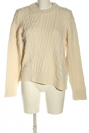 Gant Strickpullover creme Zopfmuster Casual-Look