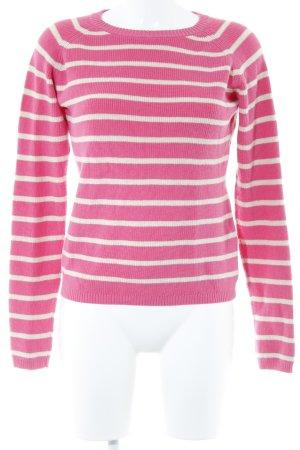Gant Strickpullover creme-pink Streifenmuster Casual-Look