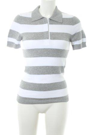 Gant Strickpullover weiß-hellgrau Streifenmuster Casual-Look