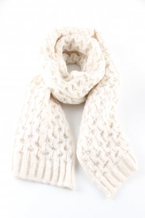 Gant Knitted Scarf natural white cable stitch casual look