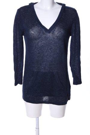Gant Strickshirt blau meliert Casual-Look