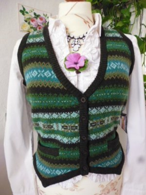 Gant Norwegian Cardigan multicolored new wool
