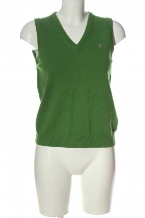 Gant Smanicato lavorato a maglia verde stile casual