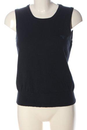 Gant Smanicato lavorato a maglia blu stile casual