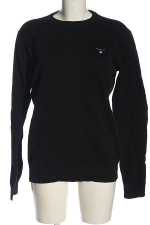 Gant Sweatshirt schwarz Casual-Look