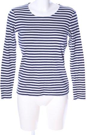 Gant Sweatshirt weiß-blau Streifenmuster Casual-Look