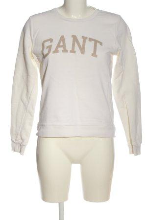Gant Sweatshirt wollweiß Schriftzug gedruckt Casual-Look