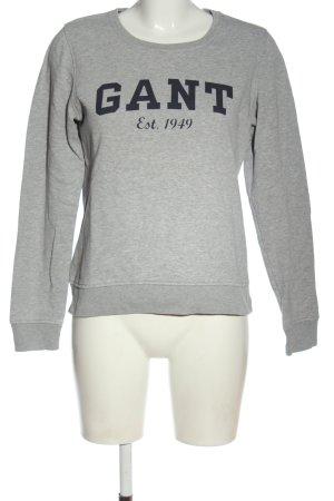 Gant Sweatshirt hellgrau Schriftzug gedruckt Casual-Look