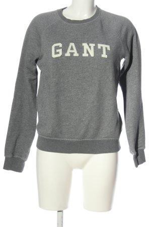 Gant Suéter gris claro moteado look casual