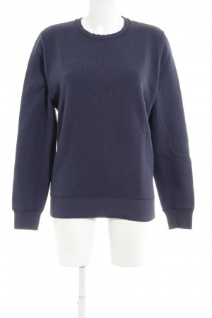 Gant Sweatshirt blau-dunkelblau Schriftzug gestickt Casual-Look