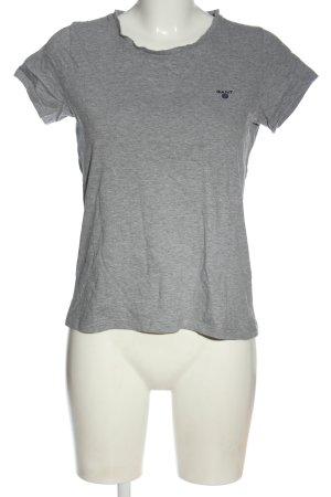 Gant T-Shirt hellgrau meliert Casual-Look