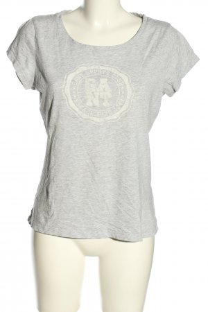 Gant T-Shirt hellgrau-wollweiß meliert Casual-Look