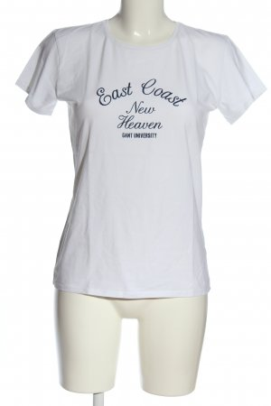 Gant T-shirt bianco-nero caratteri stampati stile casual