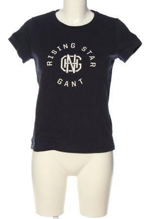 Gant T-Shirt schwarz Schriftzug gedruckt Casual-Look