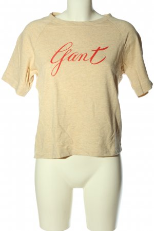 Gant T-Shirt creme-rot meliert Casual-Look