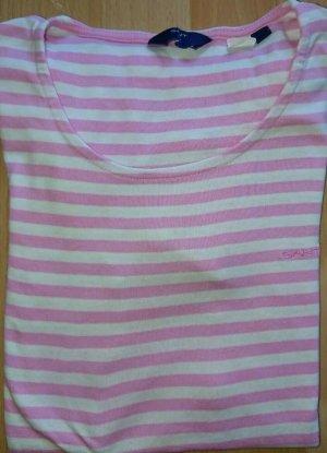Gant T Shirt, Damen, Gr. S, Rosa Weiß, Gestreift