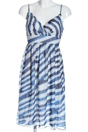 Gant Trägerkleid blau-weiß Allover-Druck Elegant