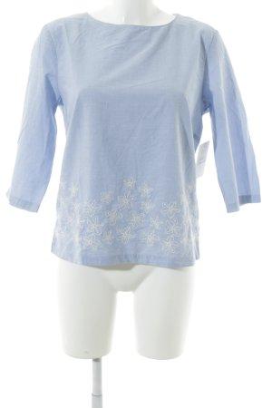 Gant Tunikabluse hellblau-wollweiß schlichter Stil