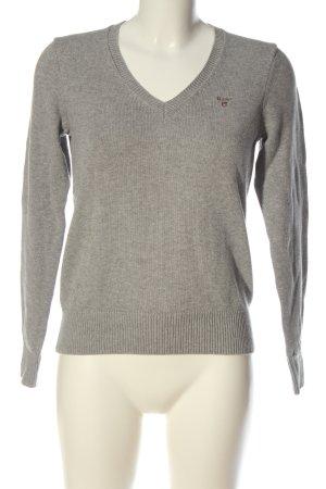 Gant Jersey con cuello de pico gris claro moteado look casual
