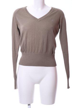 Gant V-Ausschnitt-Pullover braun Casual-Look