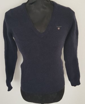 Gant V - Ausschnitt Pullover, dunkelblau, Lammswolle, Gr. XS