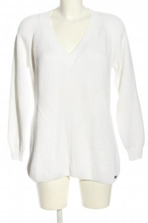 Gant V-Ausschnitt-Pullover weiß Casual-Look