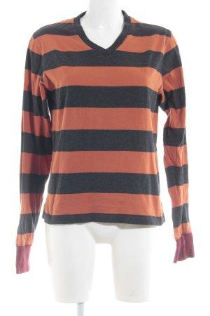 Gant V-Ausschnitt-Shirt Streifenmuster Casual-Look