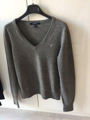 Gant V Wool Pullover Grau Größe 36/38