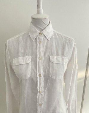 Gant Blusa de lino blanco Lino