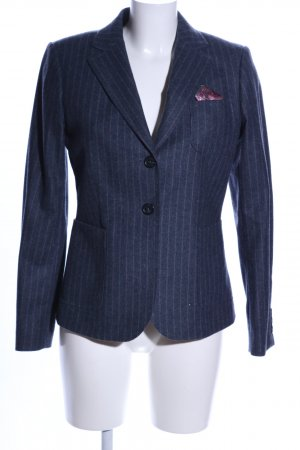 Gant Blazer en laine bleu motif rayé style d'affaires