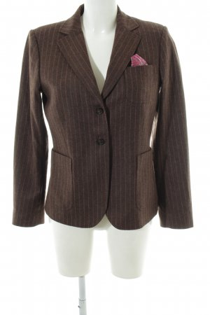Gant Wollen blazer brons gestreept patroon zakelijke stijl