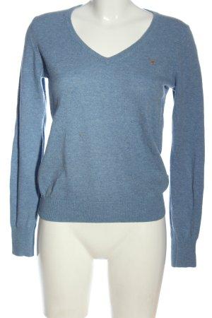 Gant Wollpullover blau meliert Casual-Look
