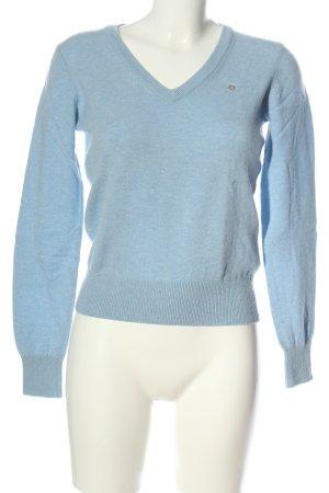 Gant Jersey de lana azul moteado look casual