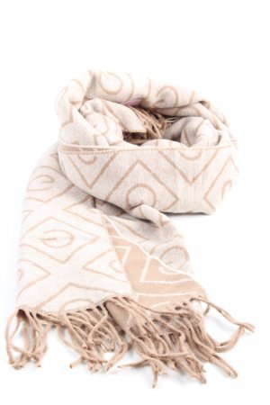 Gant Wollschal creme-weiß grafisches Muster Casual-Look