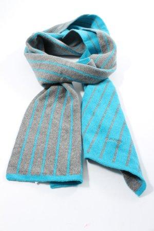Gant Woolen Scarf blue-light grey striped pattern casual look