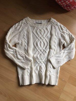 Gant XS weißer Pullover pulli 34 36 baumwolle