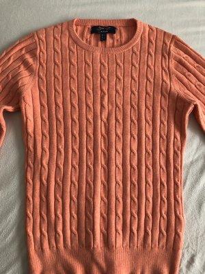Gant Warkoczowy sweter brzoskwiniowy